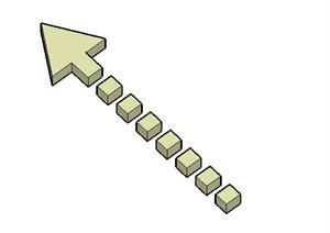 直线箭头景观标志标记SketchUp(SU(草图大师))3D模型