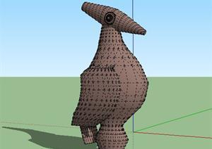 东南亚风格某雕塑景观小品sketchup(su)3d模型