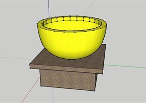 东南亚风格碗灯景观小品sketchup(su)3d模型