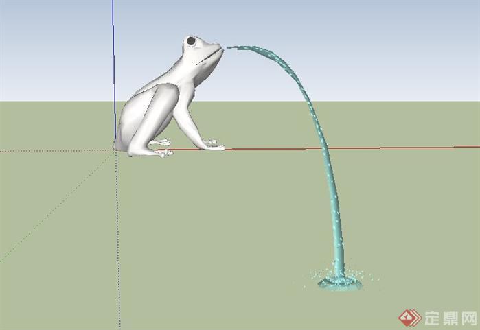 东南亚风格蟾蜍景观小品SketchUp SU 3D模型