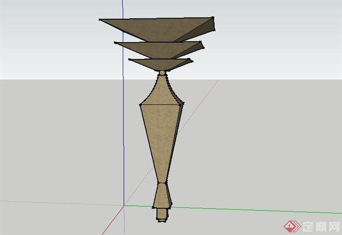 东南亚雕塑景观小品SketchUp SU 3D模型