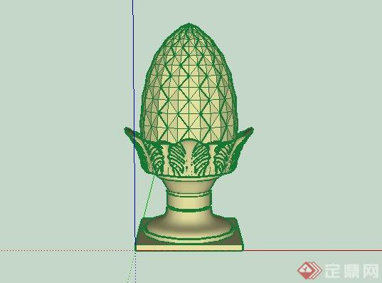 东南亚菠萝景观小品SketchUp SU 3D模型