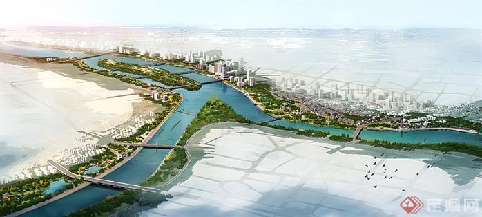 某城市大型河道风光带园林景观设计效果图psd格式,该景观设计方案造型独特,效果图制作非常详细,具有很好的意境,各个图层没有合并,可以在同类项目中做参考或适当修改后使用,也可以选取效果图中局部素材进行其他效果图制作,是很好的效果图制作素材。