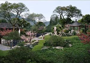 某山地公园园林景观设计效果图psd格式图片