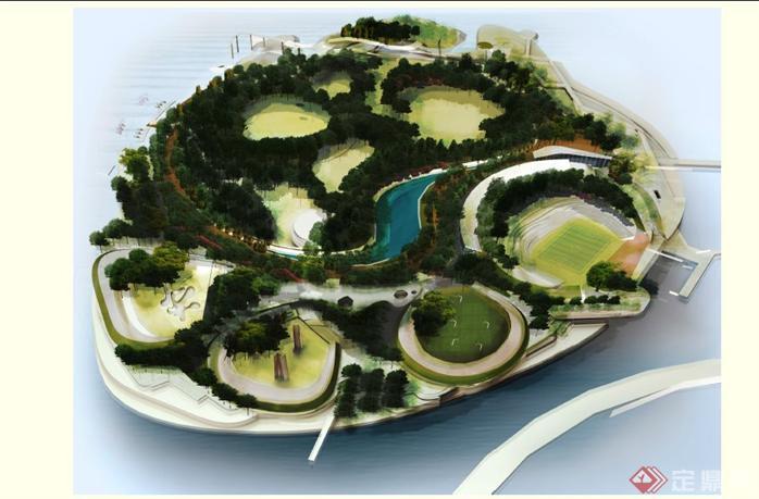 中国某湖心岛景观概念规划设计方案文本
