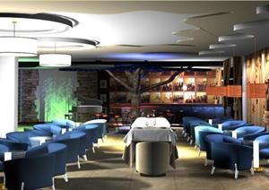 室内设计作业之咖啡厅装修设计方案
