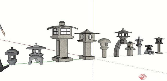 雕塑小品灯笼石灯笼小品雕塑雕塑设计