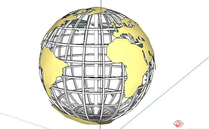 雕塑小品地球仪小品雕塑雕塑设计雕塑模型