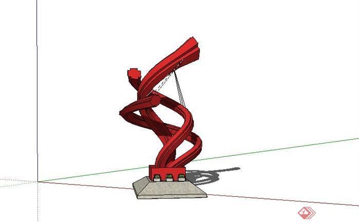 雕塑景观小品SketchUp(SU)3D模型
