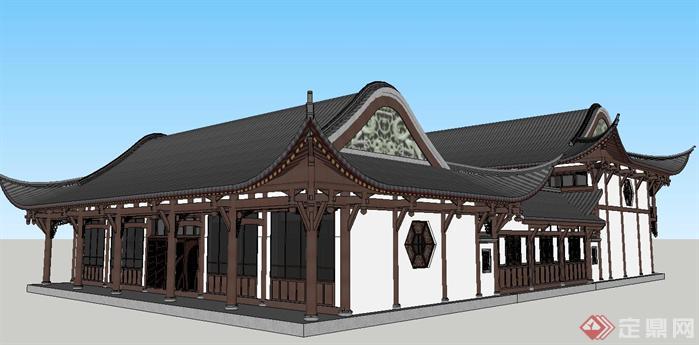 该四合院建筑设计方案造型独特