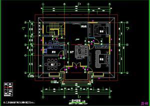 三层别墅建筑设计施工图