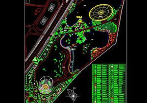 浙江某小区绿化规划设计方案高清图片