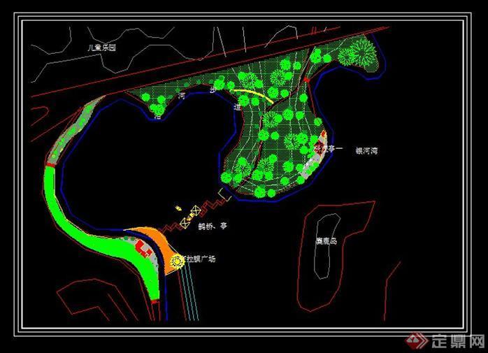 杭州某大型小区水上亭廊组合景观施工详图