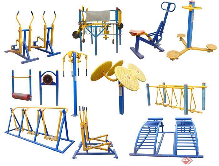 铝木钢三材质室外健身器材