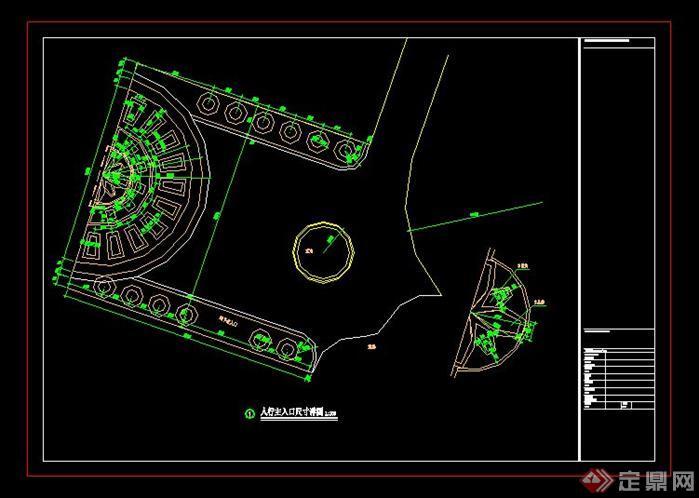 大连某小区广场喷泉施工详图-设计师图库