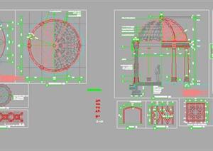 各种万科欧式、中式景观亭施工图