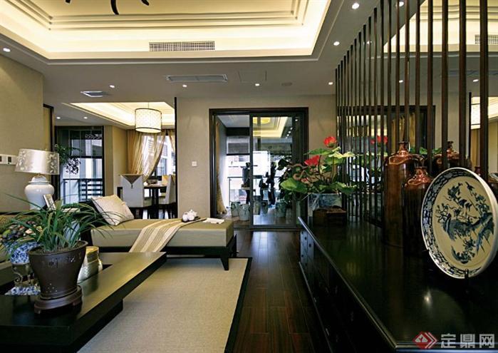 重庆某中式样板房室内装修实景照片1