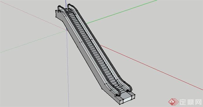 自动扶梯su模型