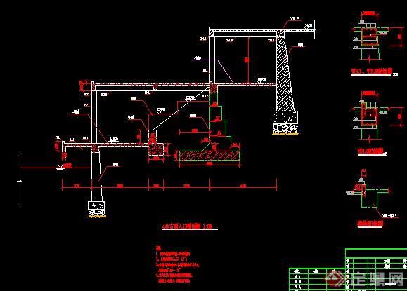 设计图分享 直立式挡土墙设计图 > 直立式挡土墙结构图  直立式挡土墙