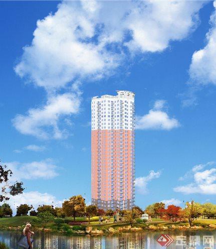 高层塔式住宅建筑设计作业,建筑设计本身效果还可以,只是表