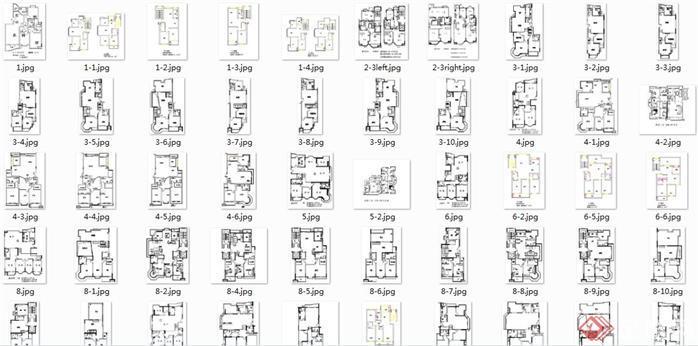 几百套新农村住宅自建房CAD施工图纸 户型图 效果图5