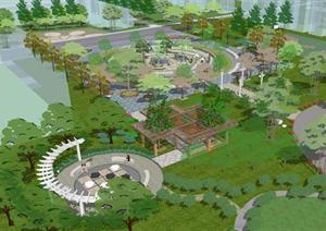 su喷泉模型园林景观设计方案效果图设计素材教学资料图片
