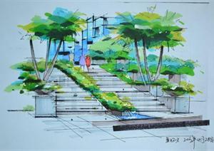 一些建筑景观快题设计案例