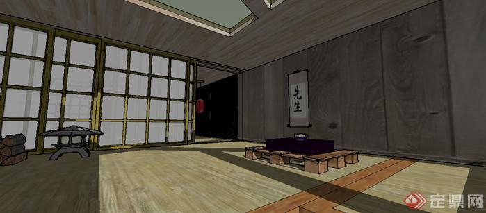 榻榻米室内设计sketchup模型