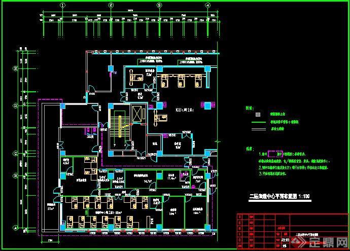 该建筑平面布置内容很详细,是很多刚入行的设计师的优秀参考资料.