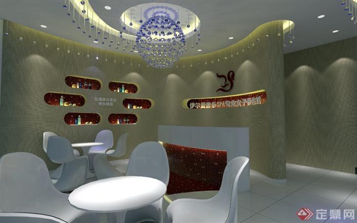 伊尔曼SPA美容院SU精品设计模型(整套CAD图纸 效果图)1