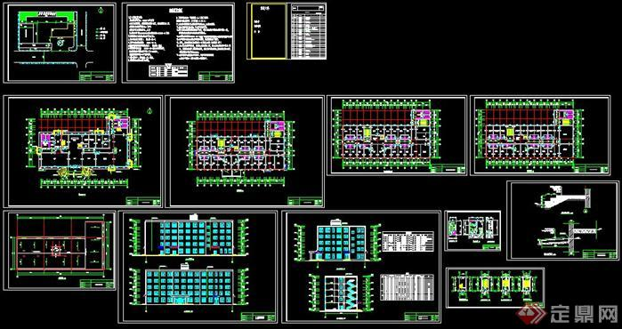 某五层框架结构宾馆建筑设计图——4380平