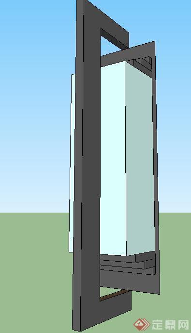 立柱造型壁灯su精品设计模型[原创]