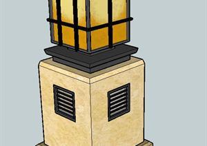立柱造型景观灯SU(草图大师)精品设计模型