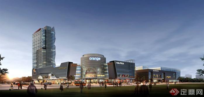 顺德龙山某商业建筑设计项目效果图