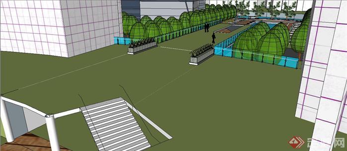 社区公共中心环境规划设计su模型[原创]