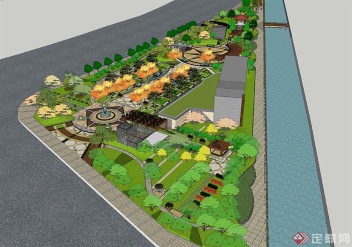 杭州某公园带地下车库投标设计全景高细度景观模型()