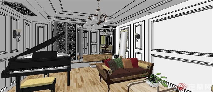 某样板房室内设计sketchup模型2