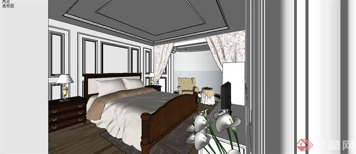某样板房室内设计sketchup模型5
