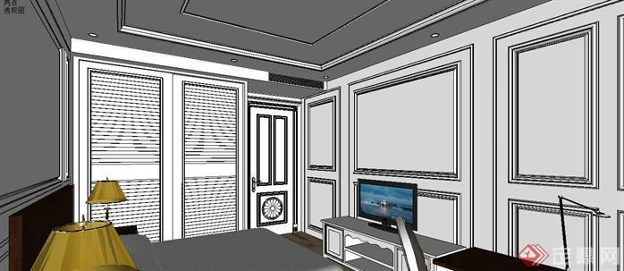 某样板房室内设计sketchup模型6