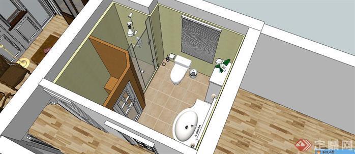 某样板房室内设计sketchup模型8