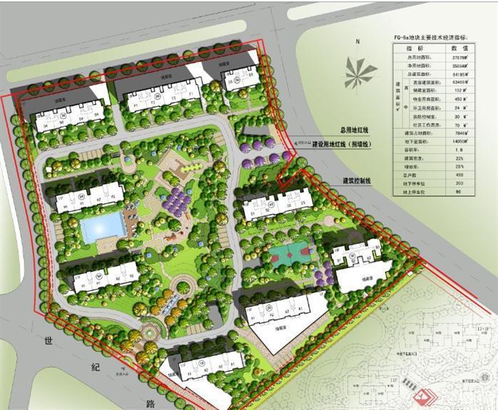 设计总平面图psd,该小区设计方案造型独特,平面效果图制作非