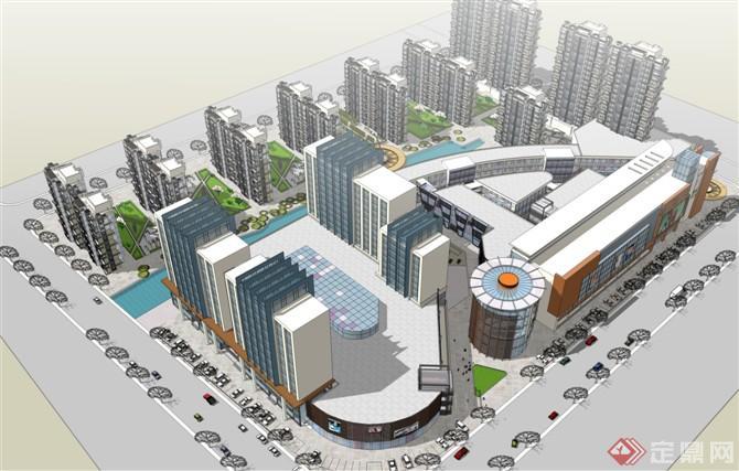 商业街规划概念设计方案su模型[原创]