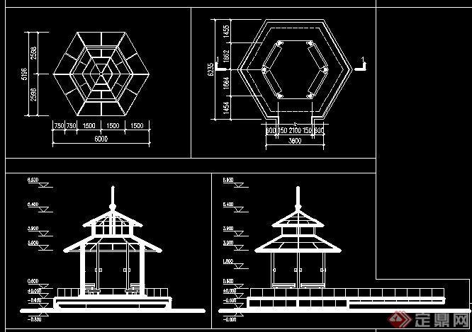 新中式六角亭设计方案2