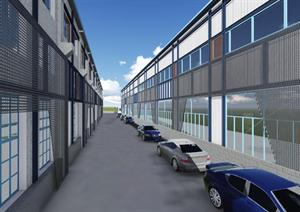 旧式厂房改造通用设计(su模型 六个方案立面)原创图片