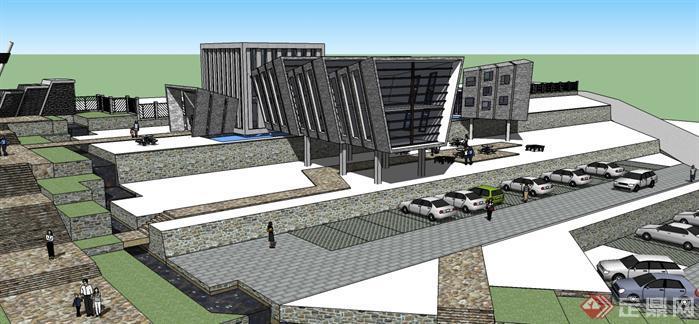 某景区入口广场及接待中心方案-设计师图库