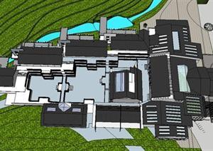 大三做的山地旅馆建筑设计方案