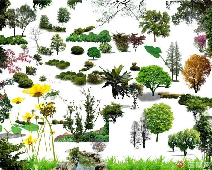 园林景观ps素材文件