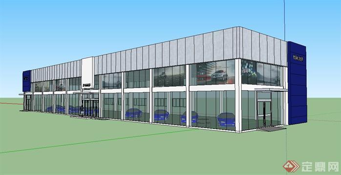 沃尔沃4s店建筑设计方案su模型[原创]