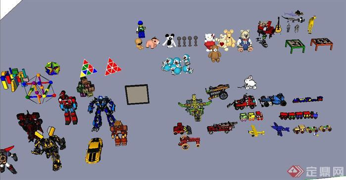 各种玩具设计su模型