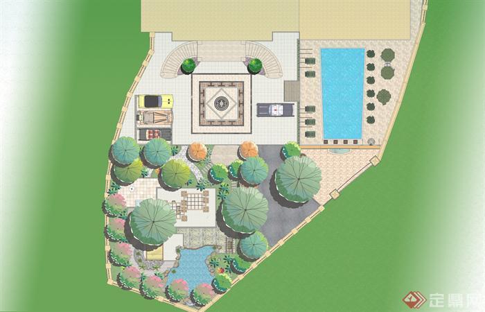 别墅庭院设计平面图